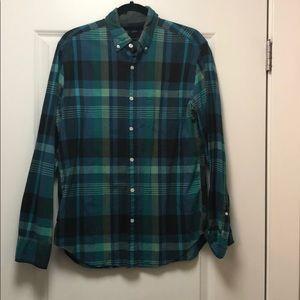 J. Crew Lightweight Cotton Plaid Button Down Shirt